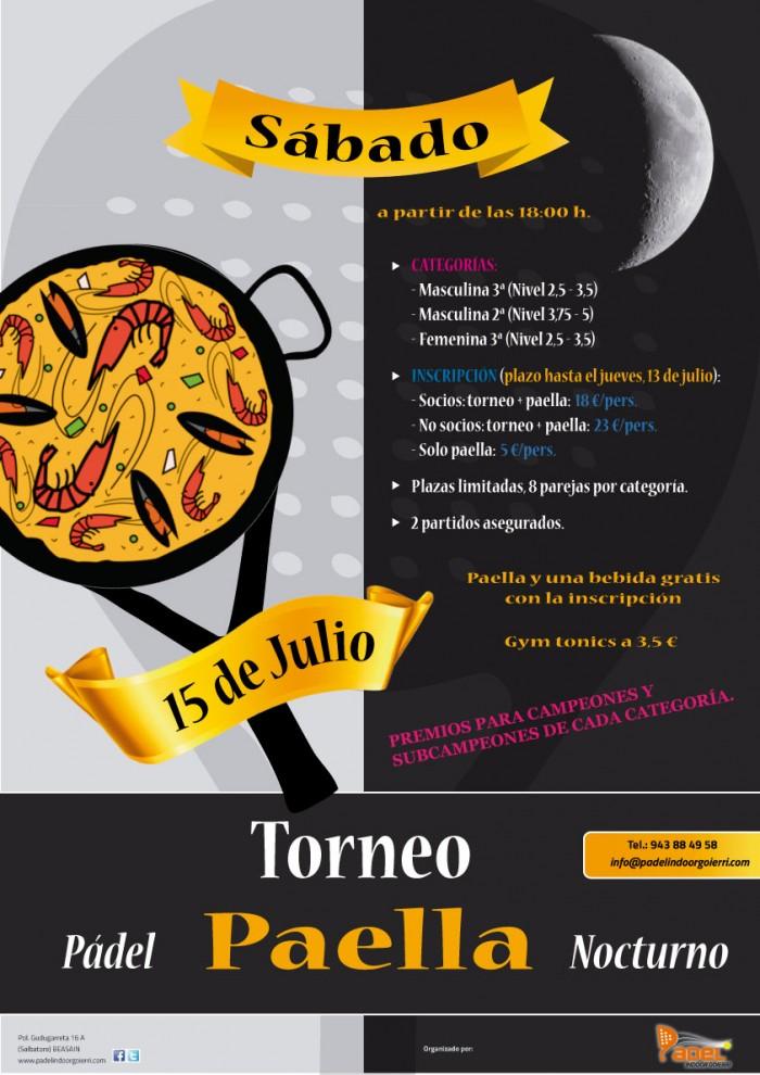 Torneo Nocturno + Paella
